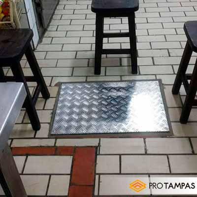 Tampa de alumínio para caixa de gordura