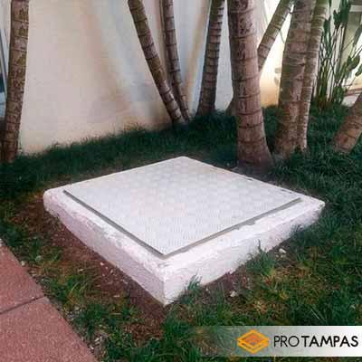 Tampa para cisterna com vedação