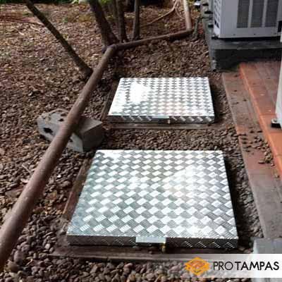 Tampa de esgoto alumínio