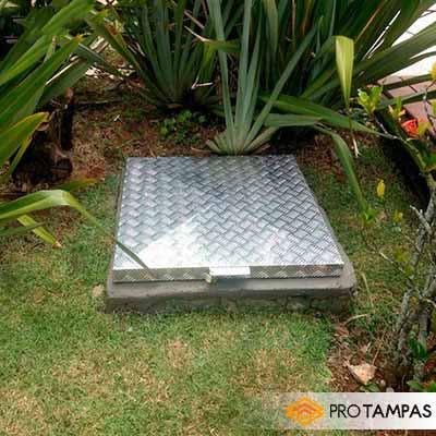 Tampas de alumínio para caixa de esgoto