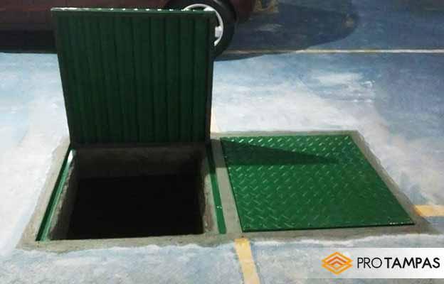 Tampas de alumínio para cisternas