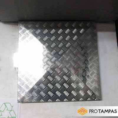 Tampa alçapão alumínio