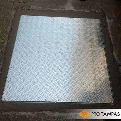 Tampa de alumínio para caixa de inspeção