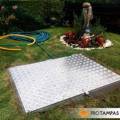 Tampa para motor de piscina em alumínio
