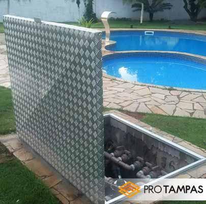 Tampa de piscina em alumínio