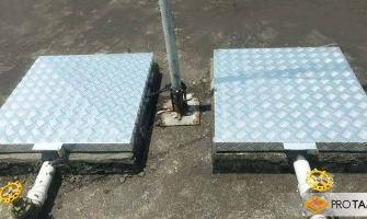 Tampas de alumínio para caixa d água